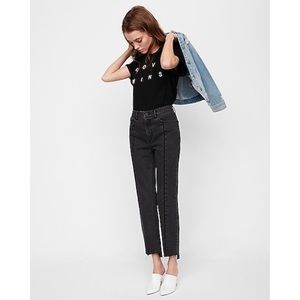 High-Waisted Straight Cropped Jeans x Express